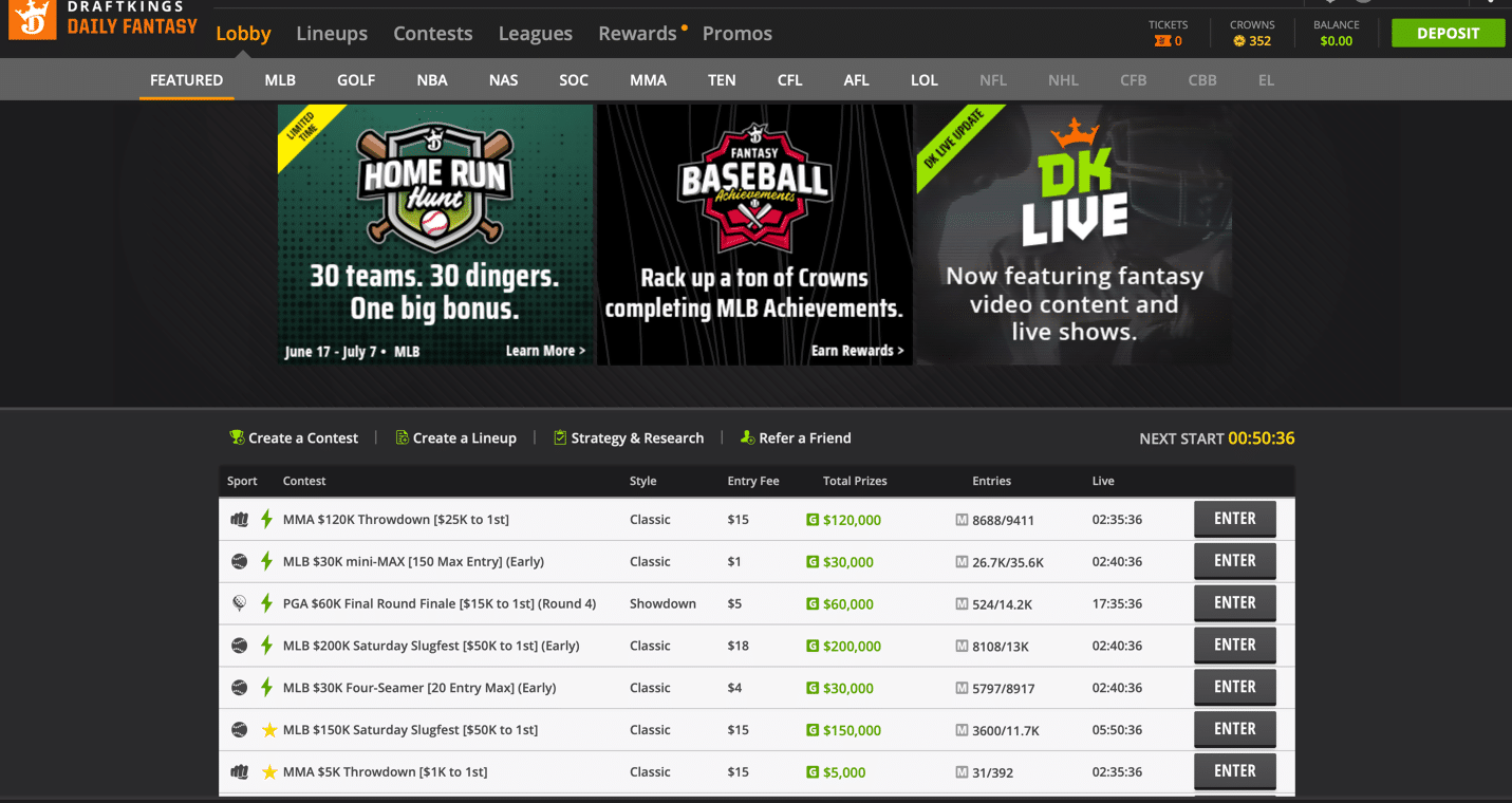 DraftKings DFS 2