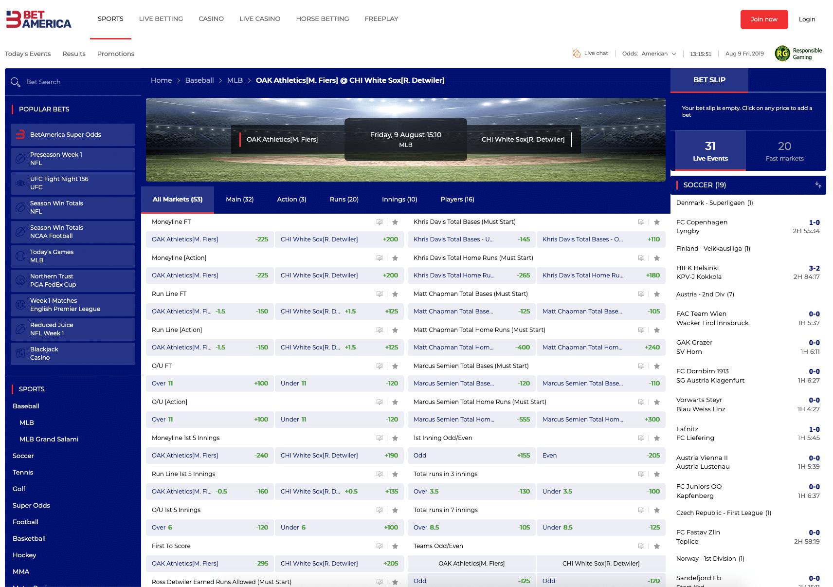 BetAmerica sports betting