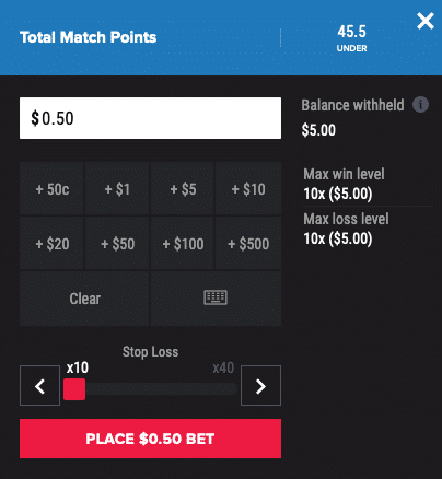 PointsBet limit