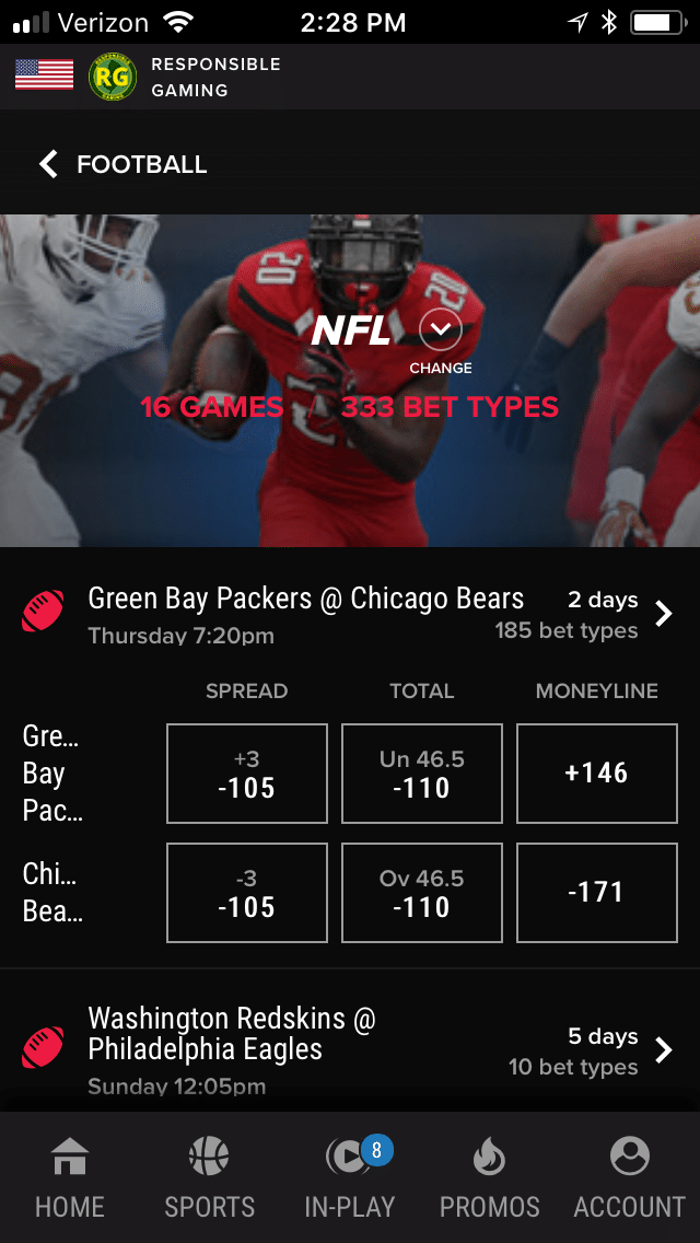 PointsBet mobile 1